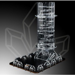 Blackfire Dice Tower - Crystal Twister Würfelturm - Höhe 22cm