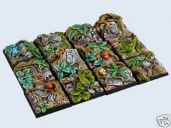 gestaltete Bases : Jungle Bases, 25x25mm (5)