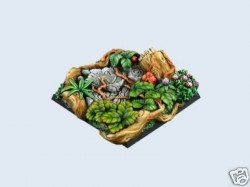 gestaltete Bases : Jungle Bases, 50x50mm (1)
