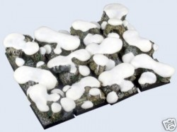 gestaltete Bases : Winter Forest , 25x25mm (5)