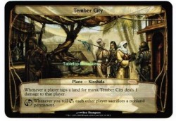 1x Tember City ! Planechase Gateway Promo ! engl. NM