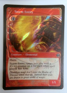 1x Storm Entity ! RELEASE FOIL PROMO engl. NM Magic the Gathering