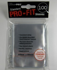 100 Ultra Pro Standard Pro-Fit Sleeves (64 x 89mm)