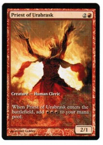 1x Priest of Urabrask Game Day Promo ! engl. NM MtG Magic Karten