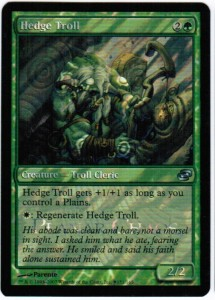 1x Hedge Troll ! Release Foil Promo ! engl. NM Magic the Gathering