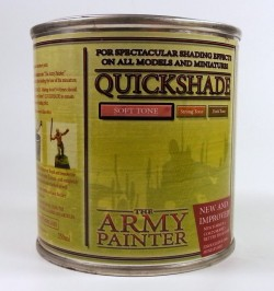The Army Painter : Quickshade (99,16€ pro l) Soft Tone - Quick Shade