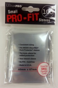 100 Ultra Pro SMALL Pro-Fit Sleeves (60mm x 87mm)