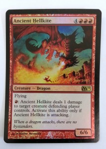 1x Ancient Hellkite PRERELEASE FOIL PROMO engl. NM Magic Karte