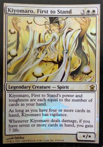 1x Kiyomaro, First to Stand PRERELEASE FOIL PROMO engl. NM Magic MtG
