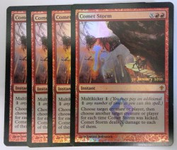 4x Comet Storm PRERELEASE PROMO FOIL ! engl. NM Magic MtG