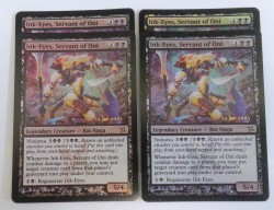 4x Ink-Eyes, Servant of Oni ! PRERELEASE FOIL ! engl. NM-Ex+