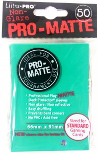 50 Ultra Pro Card Protector Sleeves : Pro-Matte - Farbe auswählen - 66 x 91mm – Bild 2