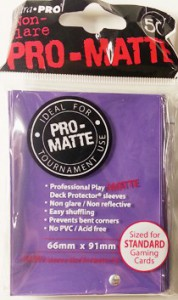 50 Ultra Pro Card Protector Sleeves : Pro-Matte - Farbe auswählen - 66 x 91mm – Bild 9