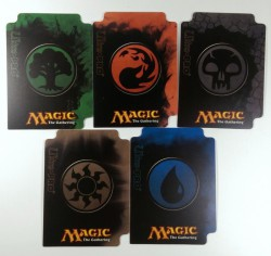 5 Ultra Pro MtG Magic Mana 4 Kartentrenner Dividers - jede Farbe 1x