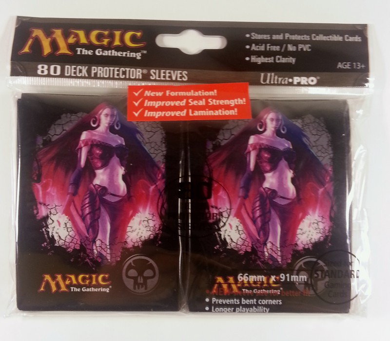 Magic the Gathering Sleeves Mana 4 (80) Schwarz - Black ... Planeswalker Starter Decks